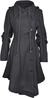 Women's Long Personality Collar Outwear Slim Trench Coat