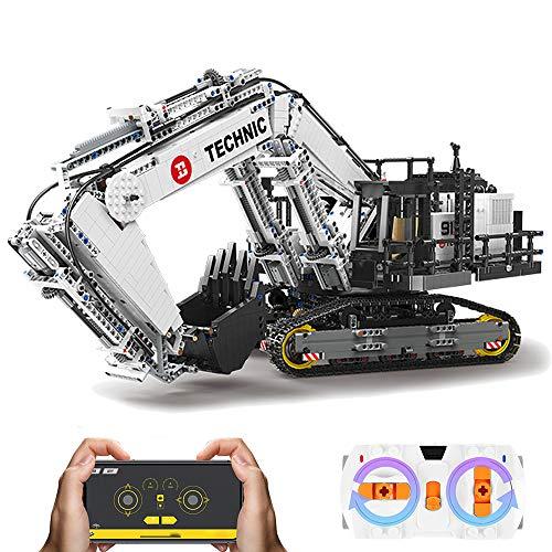AMITAS Technic Bagger Technik ferngesteuert Bagger, 4342 Technik Motorisierter Raupenbagger Modell mit Power-Functions, App Kontroller Kompatibel mit Lego Technik