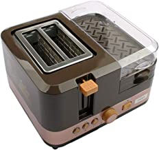 Toaster 2 Slice, Electric Breakfast Bread Baking Machine Oven Eggs Steamer Sausage Grill Roaster Omelette Frying Pan Heater