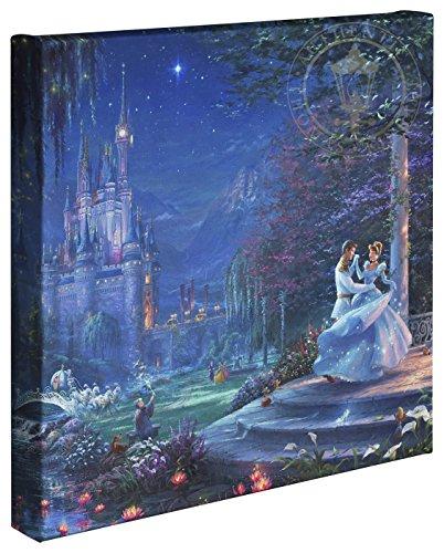 Thomas Kinkade Disney - Lienzo Envuelto en Lienzo con diseño de Cenicienta en la Estrella