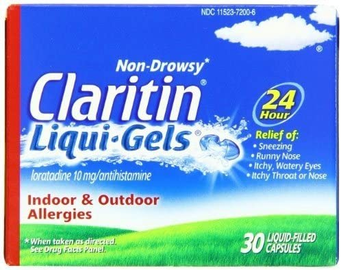 CLARITIN 24-Hour Allergy 67% Directly managed store OFF of fixed price ea Liqui-Gels 30