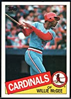 1985 Topps Baseball #757 Willie McGee St. Louis Cardinals Official MLB Trading Card (stock photos used) Near Mint or better condition