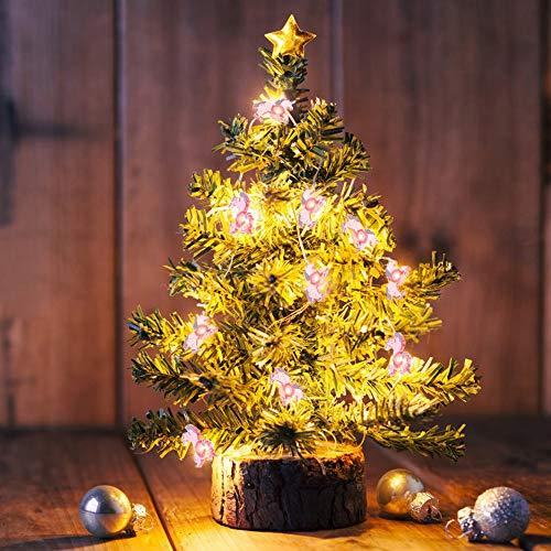 Lichterkette 2M 20 LEDs Regenbogen Girlande Kindlich Lichterkette Batterie(3AA) with Warmes Licht Dekoration Lichterkette für Zimmer, Vorhang, Weihnachts, Party, Garten (Einhorn)