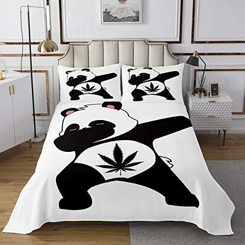 Juego de de Hojas de Marihuana para niños y niñas,Panda Gigante Chino,Hojas de Cannabis,de Animales,3 Piezas,King