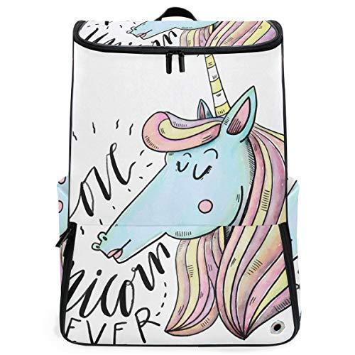 FANTAZIO Love Unicorn Forever Sac à Dos pour Ordinateur Portable de Plein air Voyage Randonnée Camping Sac à Dos décontracté Grand Sac à Dos pour l'école