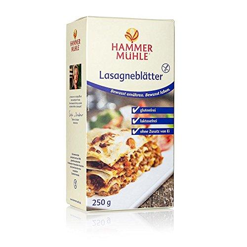 Hammermühle - Lasagne Platten aus Mais und Reis, laktose, glutenfrei, 250g
