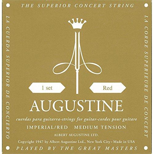 Augustine 650467 Imperial Red Label Jeu de Cordes pour Guitare classique tension forte moyenne