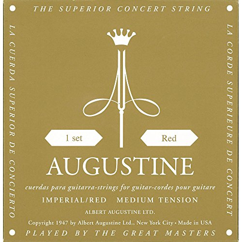 Augustine Klassik Gitarrensaiten Imperials Label Satz Red High Tension/Basssaiten Medium Tension HLSETIMPRED