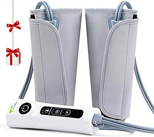 amzdeal Appareil de Massage pour Jambes à Compression d'air, Masseur de Jambes avec 3 Niveaux d'Intensité pour Bureau,...