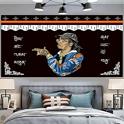 NHhuai Tapiz para Colgar en la Pared del hogar para Sala de Estar Dormitorio hogar decoración, Estilo étnico de Tela de Fondo Tibetano
