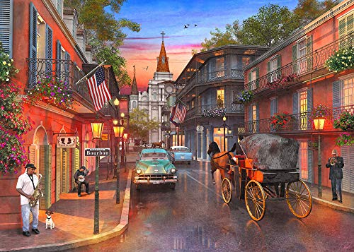 Springbok Puzzle - Bourbon Street - 1000 Piece Jigsaw Puzzle - Large 30 Inches by 24 Inches Puzzle - Made in USA - Unique Cut Interlocking Pieces