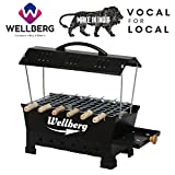 Wellberg Large Size Barbeque Grill Charcoal & Electric 2 in 1 Barbeque