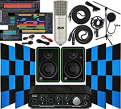 Mackie Onyx Artist 2-2 Audio/Midi interface With Pro Tools First Software Studio Bundle with CR3-X Pair Studio Monitors, 24 Pack Acoustic Soundproof Studio Foam Wedges Sound Insulation Panels