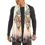 Retro acuarela flor mapa del mundo boho hippie bufanda para mujeres hombres ligero unisex primavera otoño invierno bufandas chal envuelve