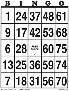 Sea Bay Game Company Extra Jumbo Bingo Cards 10