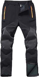 Gash Hao Men's Snow Ski Waterproof Softshell Snowboard Pants
