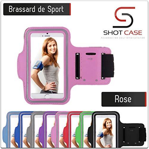 Shot Case - Brassard Sport WIKO Rainbow Up Housse Etui Coque (Couleur Rose)