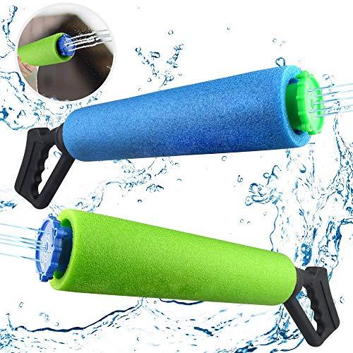 Baztoy Wasserpistole Spielzeug für Kinder Junge Mädchen Erwachsene Wasserpistolen Set Outdoor Spielzeug Wasserspritzpistole Shooter Sommer Wasserspielzeug Geschenk für Garten Pool Schwimme Party 2PCS