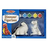 Melissa & Doug- Created by Me Dinosaur Figurines Craft Kit Figuritas de Dinosaurios, Multicolor (8868)