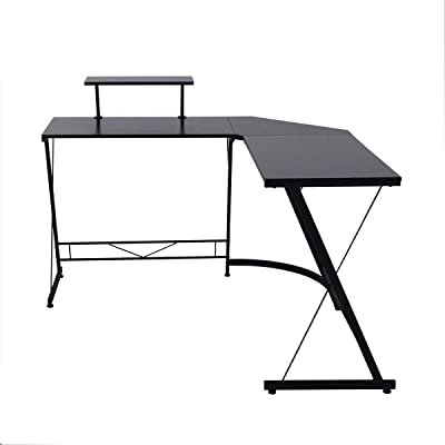CozyCasa Computer Desk L-Shaped Gaming Desk, Large L Shaped Corner Desk for Home Office