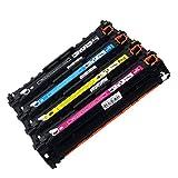 Cartucho de tóner de Repuesto para HP Laserjet Pro CP1025 1025nw M275mfp M175a M175nw Compatible con CE310A CE311A CE312A CE313A, Color 1Set