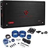 Rockville RXD-T2 Micro Car Amplifier 2400w 2 Channel 2x600W Rated+Amp Kit