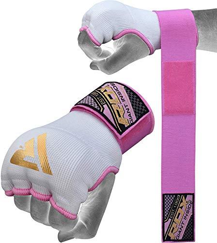 RDX Innenhandschuhe Damen Elastisch Boxen Boxbandagen MMA Handschuhe Daumenschlaufe Frauen (MEHRWEG)