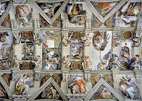 CHOUE Il soffitto della Cappella Sistina di Michelangelo 5000 Pezzo di Carta Puzzle for Adulti i Bambini Super Difficile Gioco di Puzzle Famoso Dipinto Art Home Decor