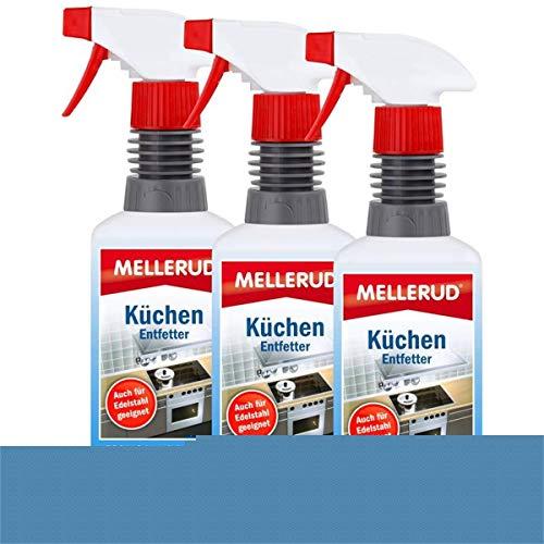 3x MELLERUD Küchen Entfetter 0,5L Set Küchenreiniger Fettlöser Küchenentfetter