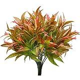 KostaTech 4 Piezas de Plantas Artificiales Morning Glory, 30 cm Ramo de Hojas Artificiales decoración de Primavera para Adornos de Mesa Interior Exterior jardín Oficina en casa (Rojo)