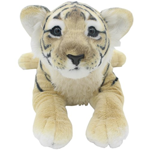 TAGLN The Jungle Animals Stuffed Plush Toys Tiger Leopard Panther Lioness Pillows Brown Tiger 16 Inch