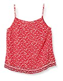 Tommy Jeans Tjw Embroidery Strap Top Blusa, Rojo (Floral Print/Deep Crimson 0k3), 36 (Talla del Fabricante: Small) para Mujer