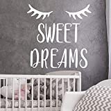 Pegatinas de pared Calcomanías de pared creativas de moda Papel de autoayuda Sweet Dreams Full Stop...