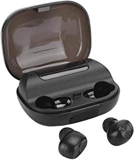 $24 » EBTOOLS Wireless Bluetooth 5.0 + EDR Earbuds, Portable Mini Dual Ears Noise Cancelling HiFi Waterproof Earphone, Support Touch Control, with LED Digital Display, for Home/Office(Black)