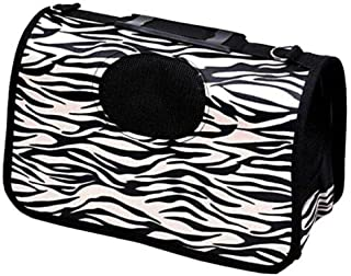 Pets Empire Pet Dog Cat Puppy Portable Travel Carry Carrier Tote Cage Bag Crates Kennel New- Black & White Printed -Size: ...
