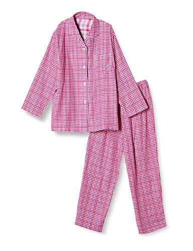[セシール] パジャマ チェック柄シャツ 綿100% 二重ガーゼ NW-205 レディース B 日本 3L-(日本サイズ3L相当)