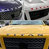 SF Sales USA - Matte Black Grille Letters for Titan 2016-2019 Front Inserts Not Decals