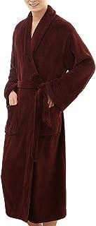 Albornoz Largos con a Cuadros para Hombres Casual Camisón Túnica Invierno Hombre,Pijamas Hombre Invierno Manga Larga Tallas Grandes, Bata de Baño Hombre Toalla
