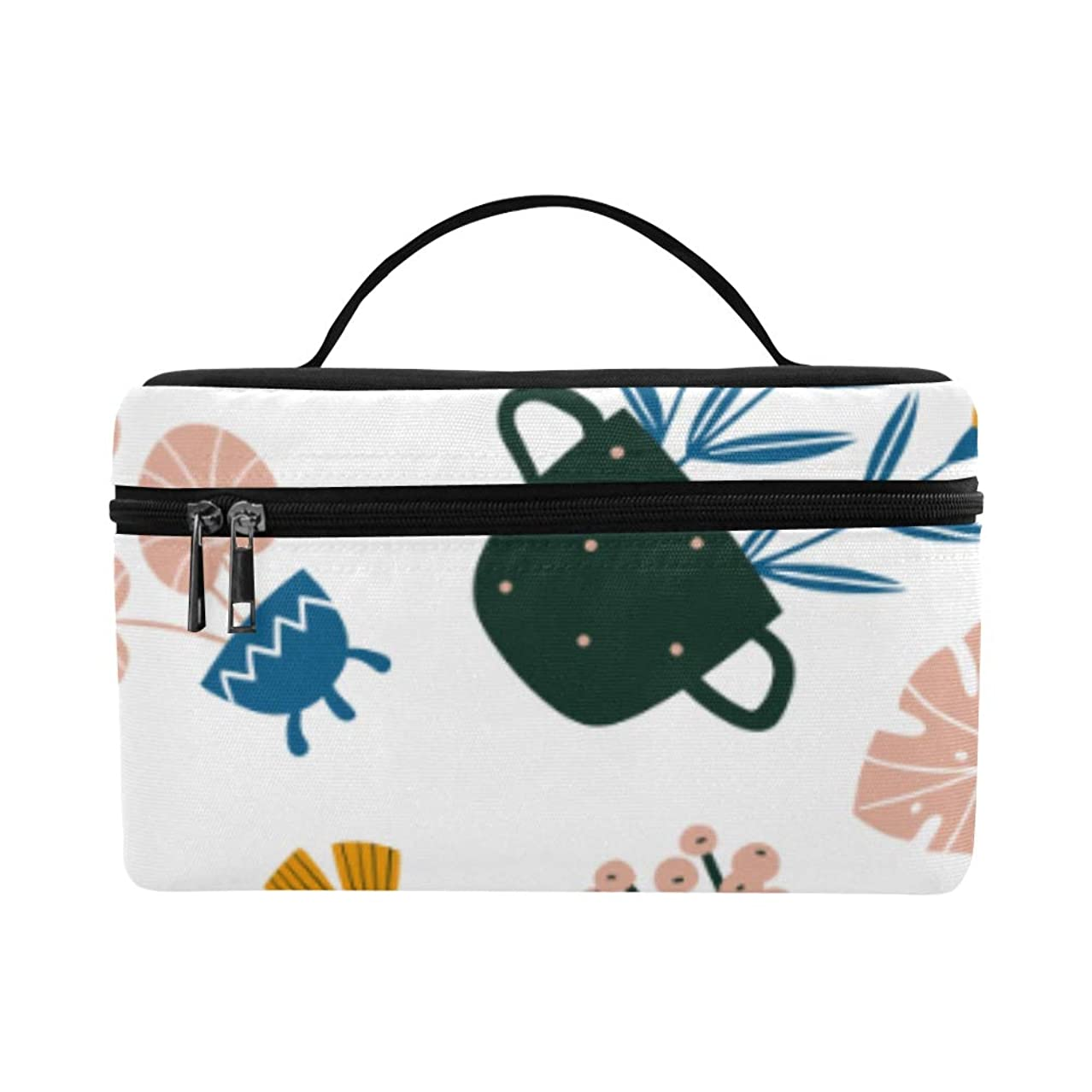 シャトルブラシ腹痛TELSG メイクボックス 華々しい花瓶や花 コスメ収納 化粧品収納ケース 大容量 収納ボックス 化粧品入れ 化粧バッグ 旅行用 メイクブラシバッグ 化粧箱 持ち運び便利 プロ用