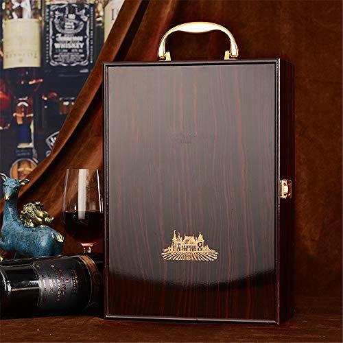 Liergou Wein Geschenkbox Exklusive Holzweinkiste Gerätekoffer Mit Zubehör-Set (Color : Black, Size : Free)