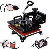 GOLDORO 5 in 1 Heat Press Machine 12x15 inch Swing Away Digital Industrial Sublimation Printing Press Heat...