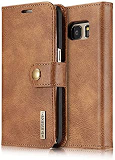 Retro Business Style Leather Flip Cover For Samsung Galaxy S7 edge Multifunction Case Cards Holder Wallet Shell Brown