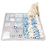Stellaire Chern Snuffle Mat for Small Large Dogs Nosework Feeding Mat (39.4' x 39.4') Easy to Fill and Machine Washable Training Mats Pet Activity/Toy/Play Mat, Great for Stress Release - L