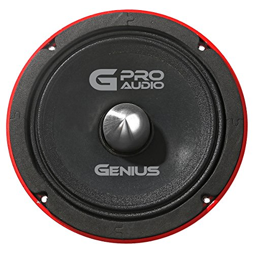 "Genius GPRO-M0265 6.5"" 300 Watts-Max Midrange Car Audio Speaker 4-Ohms Aluminium Basket"