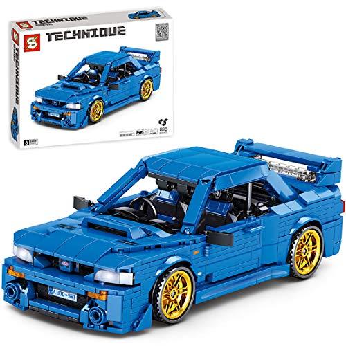 GILE Modelo de coche deportivo de técnica Pull Back Auto modelo de construcción de bloques de construcción 896 piezas técnica coche de carreras coche compatible con la técnica Lego