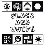 BLACK and WHITE: High contrast baby books for newborns for brain development