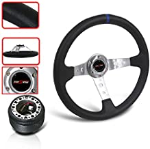 STEERING WHEEL WITH ADAPTER HUB WITH HORN BUTTON ACCORD PRELUDE JDM PERFORMANCE