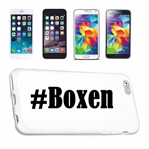 Bandenmarkt telefoonhoes compatibel met Huawei P9 Hashtag #Boxen in Social Network Design Hardcase Beschermhoes Mobiele telefoon Cover Smart Cover