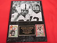 Ken Stabler Fred Biletnikoff Oakland Raiders 2 Card Collector Plaque w/8x10 B&W Photo