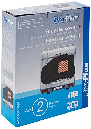 ProPlus 330286 Telo copertura 2 bici con scompartimento segnale di avviso